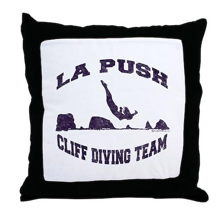 La Push Cliff Diving Team TM Throw Pillow