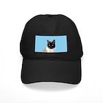 Siamese Cat Black Cap with Patch