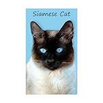 Siamese Cat Sticker (Rectangle 10 pk)
