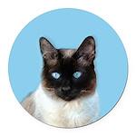 Siamese Cat Round Car Magnet