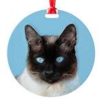 Siamese Cat Round Ornament