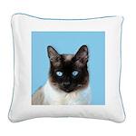 Siamese Cat Square Canvas Pillow