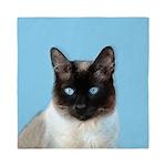 Siamese Cat Queen Duvet