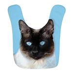 Siamese Cat Polyester Baby Bib