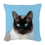Siamese Cat Woven Throw Pillow