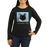 Siamese Cat Women's Long Sleeve Dark T-Shirt