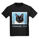 Siamese Cat Kids Dark T-Shirt
