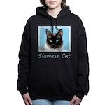 Siamese Cat Women's Hooded Sweatshirt