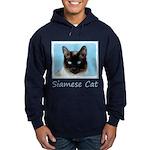 Siamese Cat Hoodie (dark)