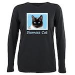 Siamese Cat Plus Size Long Sleeve Tee