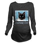 Siamese Cat Long Sleeve Maternity T-Shirt