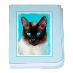 Siamese Cat baby blanket