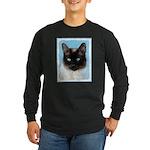 Siamese Cat Long Sleeve Dark T-Shirt