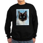 Siamese Cat Sweatshirt (dark)