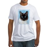 Siamese Cat Fitted T-Shirt