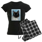 Siamese Cat Women's Dark Pajamas