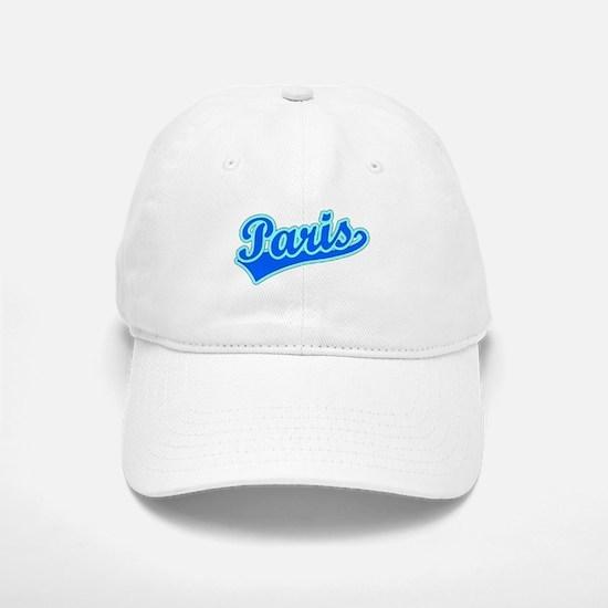Retro Paris (Blue) Baseball Baseball Cap