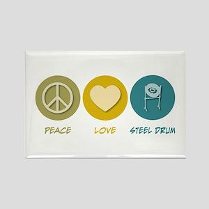 Peace Love Steel Drum Rectangle Magnet
