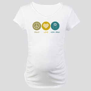 Peace Love Steel Drum Maternity T-Shirt