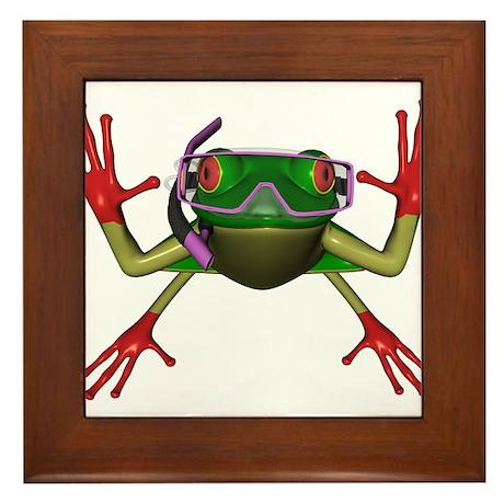 Snorkel Frog Framed Tile