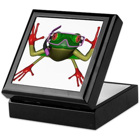 Snorkel Frog Keepsake Box