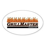 Grill Master - Licensed to Gr Oval Sticker
