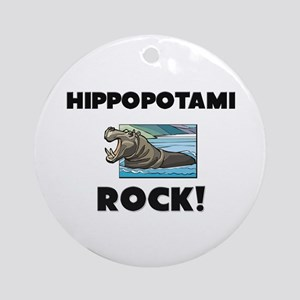 Hippopotami Rock! Ornament (Round)