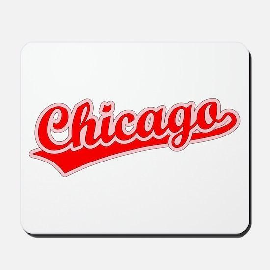Retro Chicago (Red) Mousepad