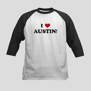 I Love AUSTIN! Kids Baseball Jersey