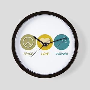 Peace Love Squash Wall Clock