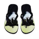 Tuxedo Cat Flip Flops