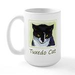 Tuxedo Cat 15 oz Ceramic Large Mug