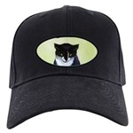 Tuxedo Cat Black Cap with Patch