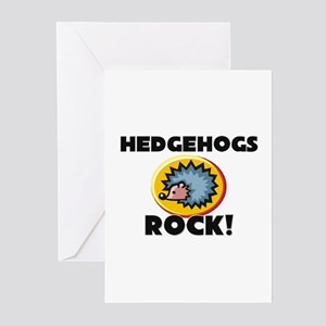 Hedgehogs Rock! Greeting Cards (Pk of 10)