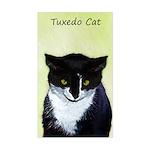 Tuxedo Cat Sticker (Rectangle)