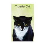 Tuxedo Cat Sticker (Rectangle 10 pk)