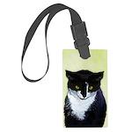 Tuxedo Cat Large Luggage Tag