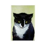Tuxedo Cat Rectangle Magnet (100 pack)