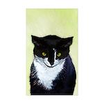 Tuxedo Cat Sticker (Rectangle 50 pk)