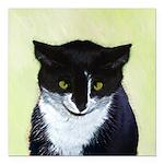 Tuxedo Cat Square Car Magnet 3