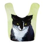 Tuxedo Cat Polyester Baby Bib