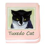 Tuxedo Cat baby blanket