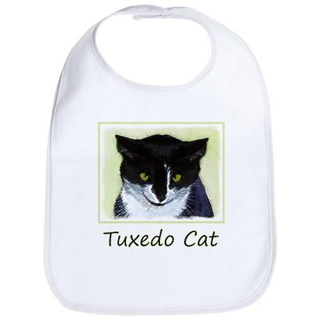 Tuxedo Cat Cotton Baby Bib