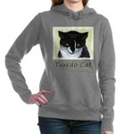 Tuxedo Cat Women's Hooded Sweatshirt