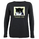 Tuxedo Cat Plus Size Long Sleeve Tee