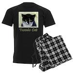 Tuxedo Cat Men's Dark Pajamas
