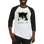 Tuxedo Cat Baseball Tee