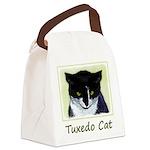 Tuxedo Cat Canvas Lunch Bag