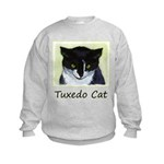 Tuxedo Cat Kids Sweatshirt