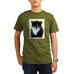 Tuxedo Cat Organic Men's T-Shirt (dark)
